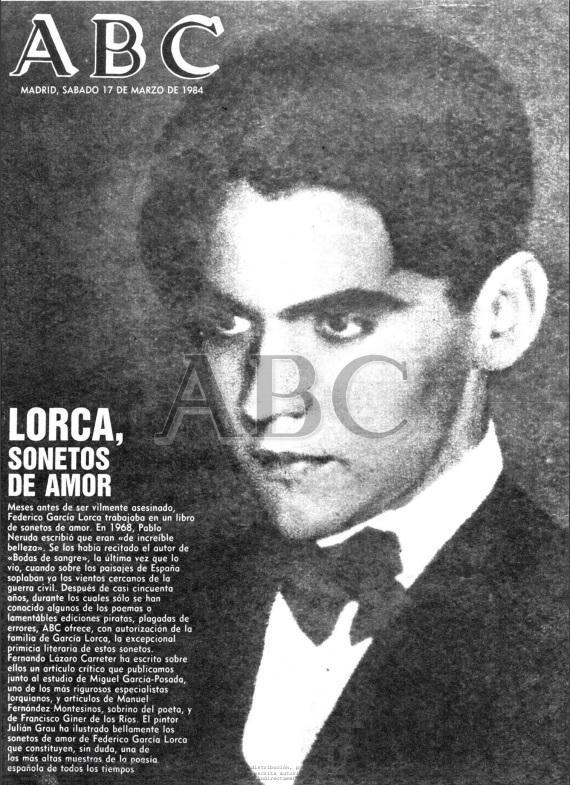 Sonetos Lorca portada ABC