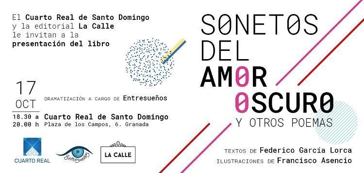 Presentación de la antología ilustrada Sonetos del amor oscuro y otros poemas.